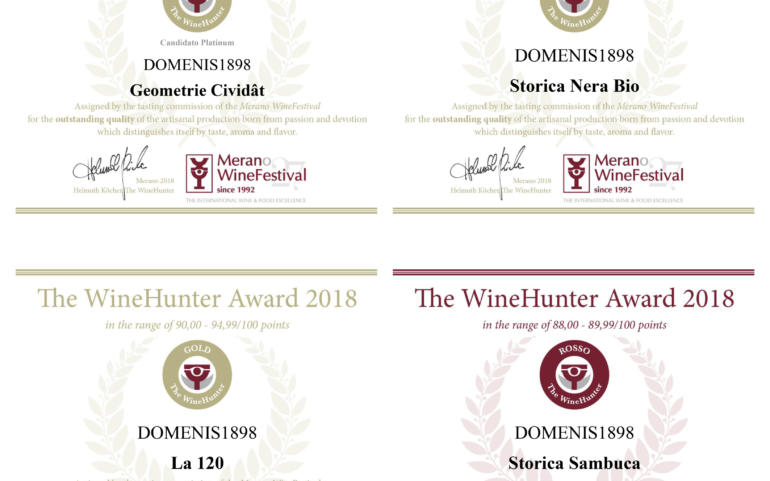 DOMENIS1898 tra i vincitori di The WineHunter Award 2018