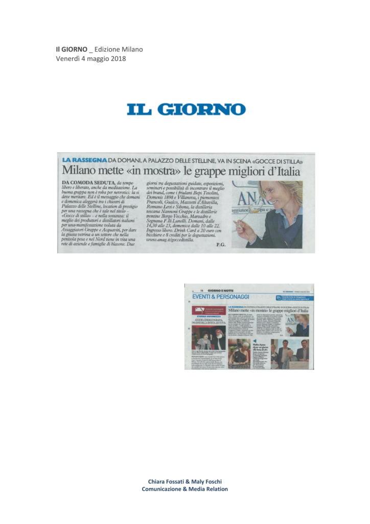 2018 maggio 4: Milano mette in mostra le grappe migliori d'italia