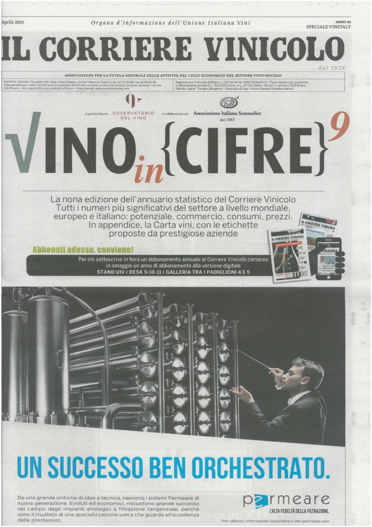 2019 aprile: Il Corriere Vinicolo – Speciale Vinitaly