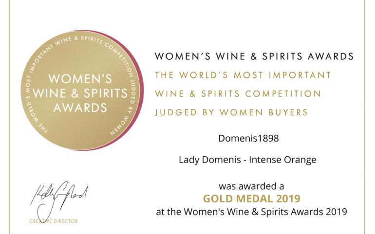 WOMEN'S WINE & SPIRIT AWARDS 2019 – GOLD – LADY Domenis Intense Orange