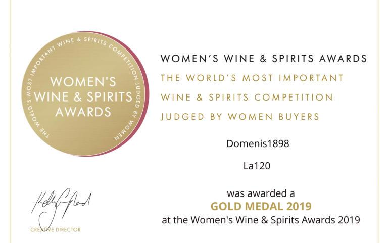 WOMEN'S WINE & SPIRIT AWARDS 2019 – GOLD – LA120