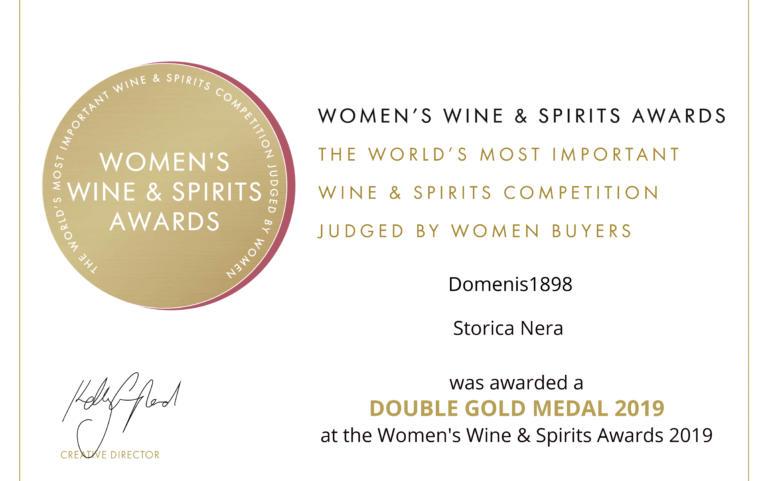 WOMEN'S WINE & SPIRIT AWARDS 2019 – DOUBLE GOLD – STORICA NERA