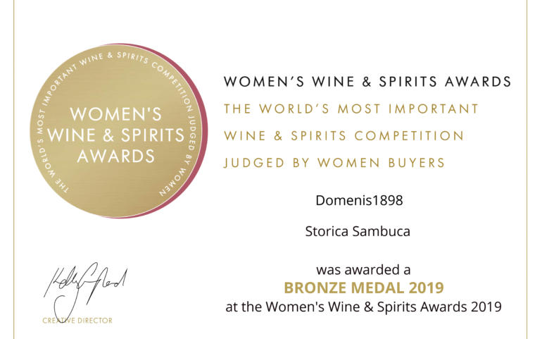 WOMEN'S WINE & SPIRIT AWARDS 2019 – BRONZE – STORICA SAMBUCA