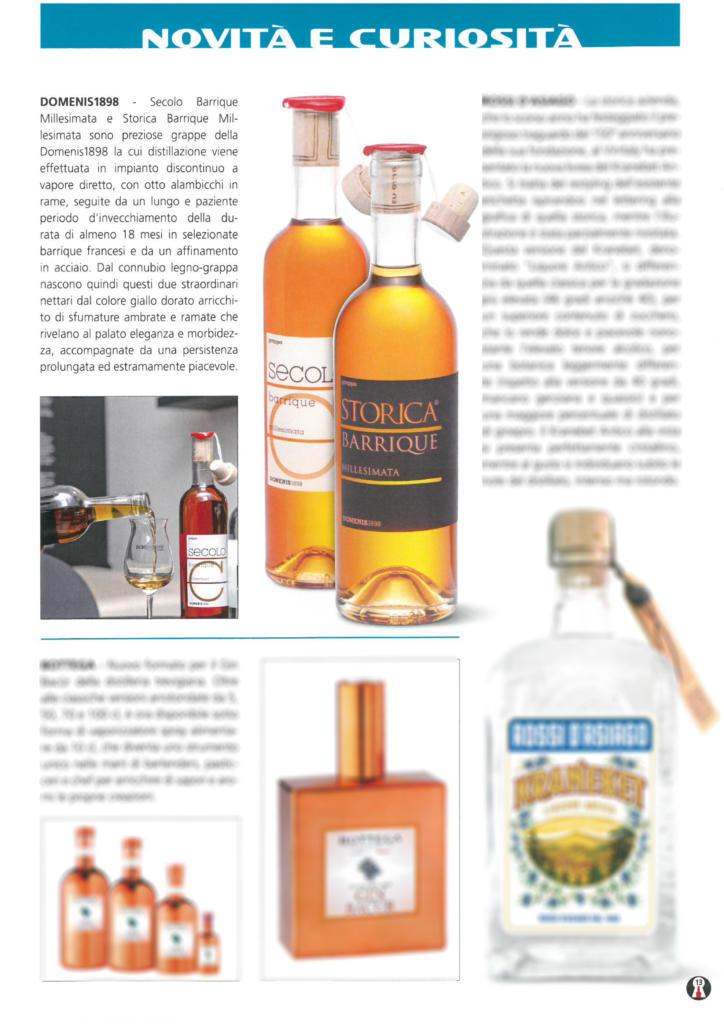 2019 aprile 2: Il Collezionista di Liquori – DOMENIS1898 Secolo Barrique Millesimata e Storica Barrique Millesimata