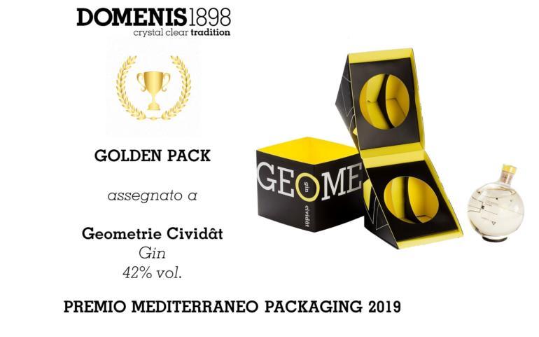 PREMIO MEDITERRANEO PACKAGING 2019 – GOLDEN PACK – GEOMETRIE CIVIDÂT