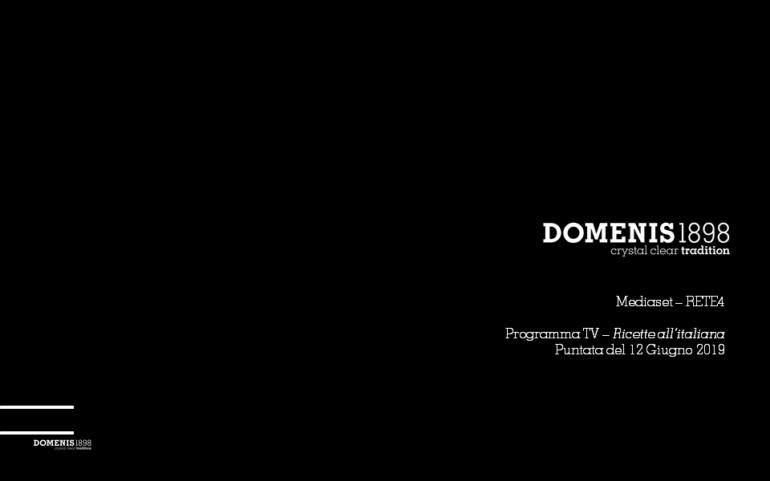 DOMENIS1898 & Ricette all'italiana_Ediz. 2019