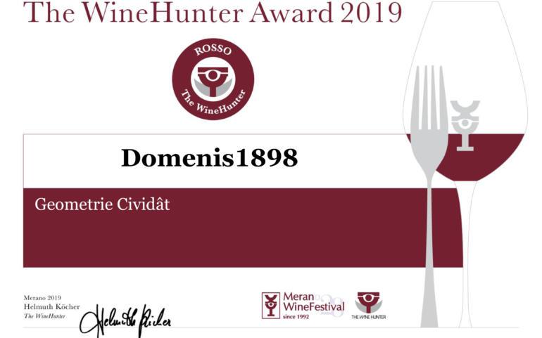 THE WINEHUNTER AWARD 2019 – PREMIO ROSSO – GEOMETRIE CIVIDÂT