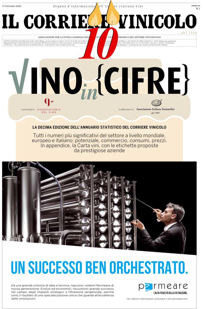 2020 gennaio 13: Il Corriere Vinicolo Speciale 10° edizione