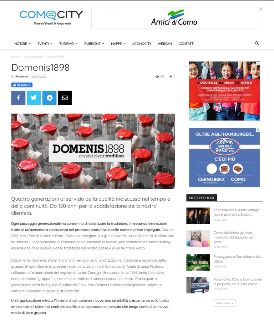 2020 gennaio 28: ComoCity.it – DOMENIS1898