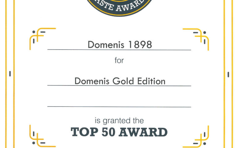 International Taste Awards 2020 – DOMENIS Gold Edition