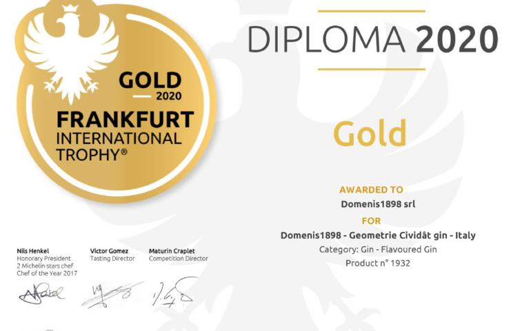 International Frankfurt Wine, Beer & Spirit Competition 2020 – GEOMETRIE Cividât Gin