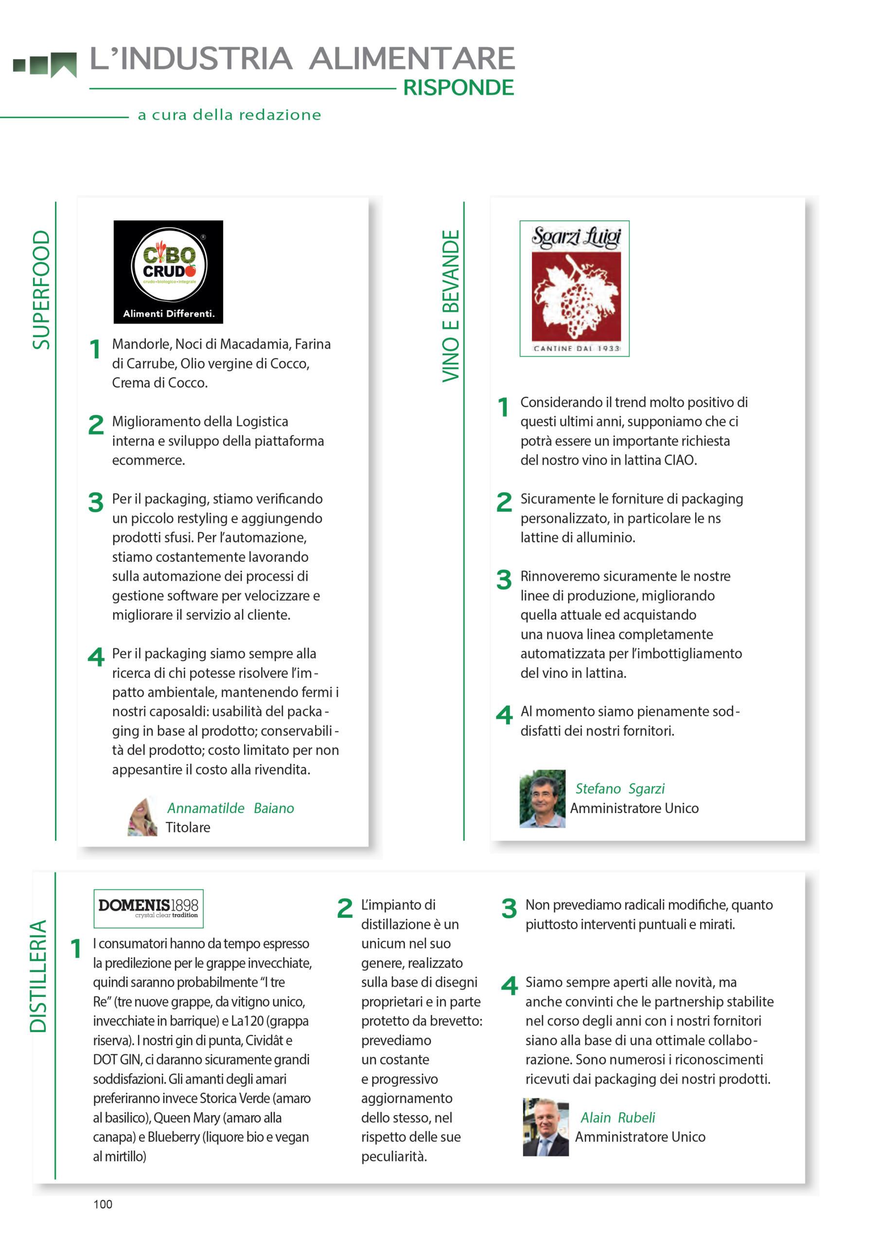 2020 giugno: Rassegna Alimentare – L'industria alimentare risponde: intervista ai produttori