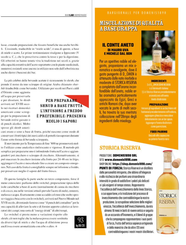 2020 giugno: Bargiornale – Miscelazione di qualità a base di grappa