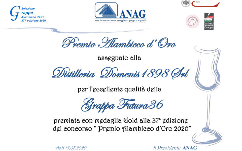 Premio Alambicco d'Oro 2020 – FUTURA36