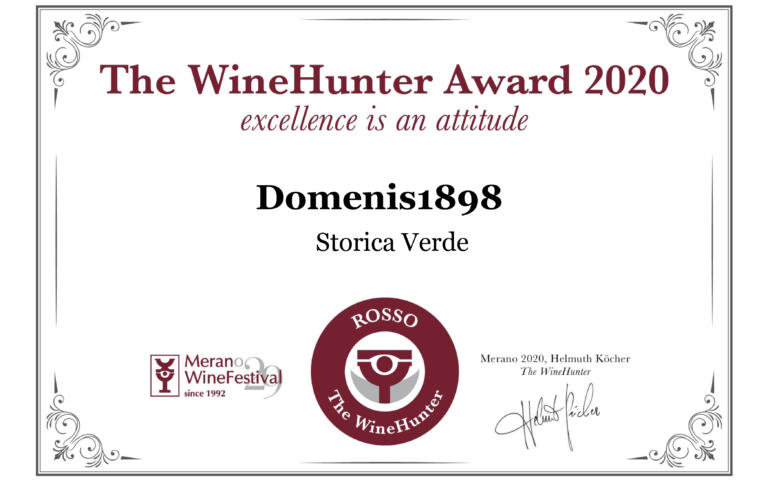 THE WINEHUNTER AWARD 2020 – PREMIO ROSSO – STORICA VERDE