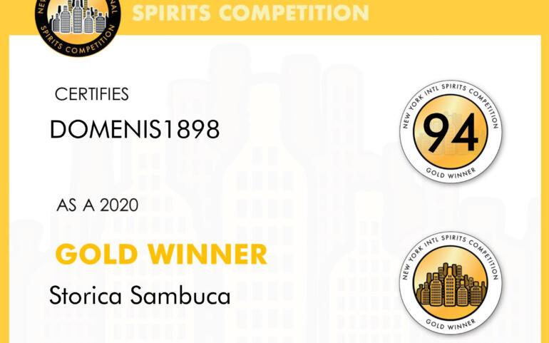 New York Intl Spirits Competition 2020 – Bronze Winner – Storica Sambuca