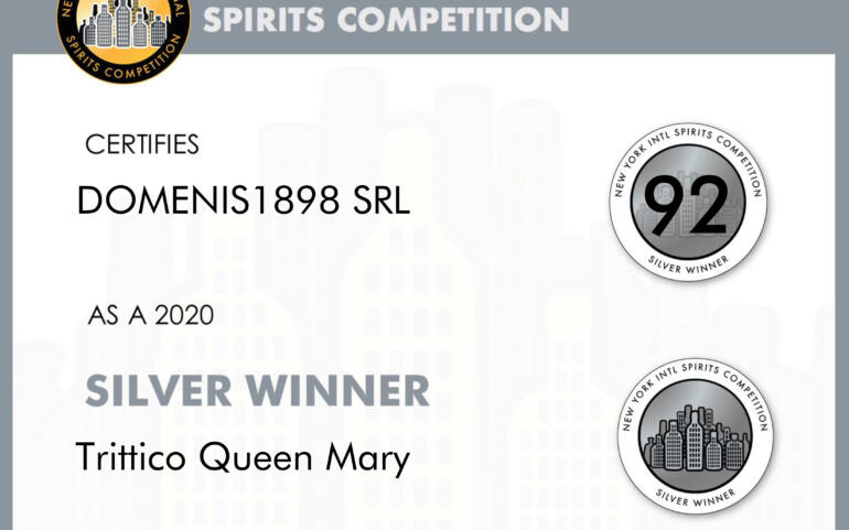 New York Intl Spirits Competition 2020 – Silver Winner – Trittico Queen Mary