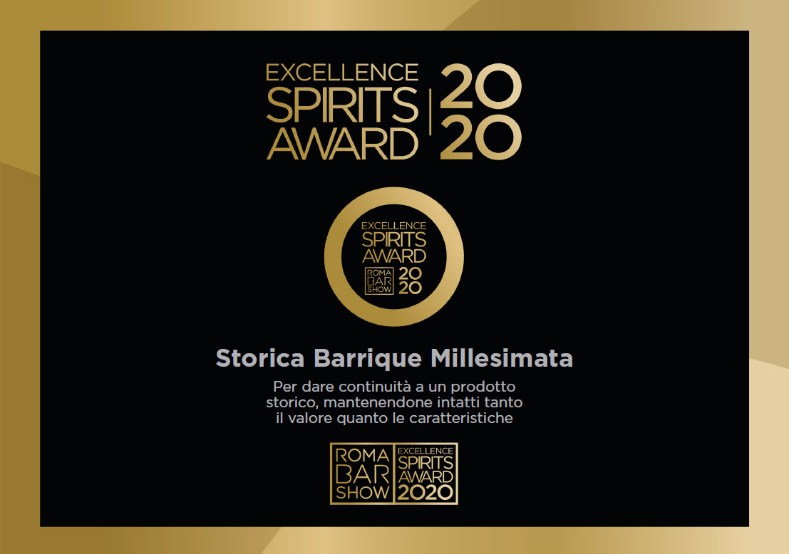 Excellence Spirits Award 2020 – Storica Barrique Millesimata