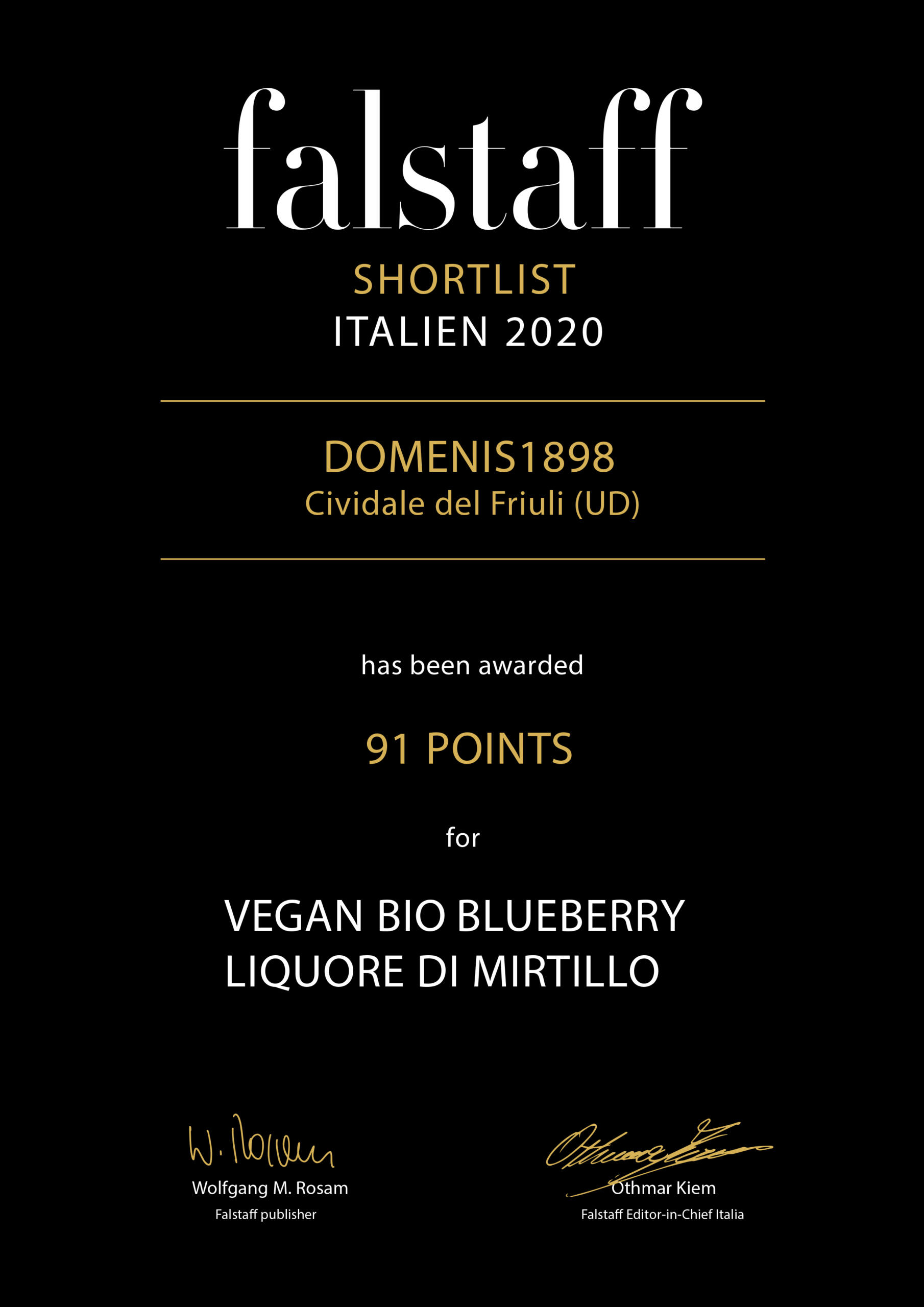 Falstaff Shortlist Italien 2020 – Vegan Blueberry