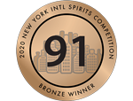 New York Intl Spirits Competition - Bronze - 91