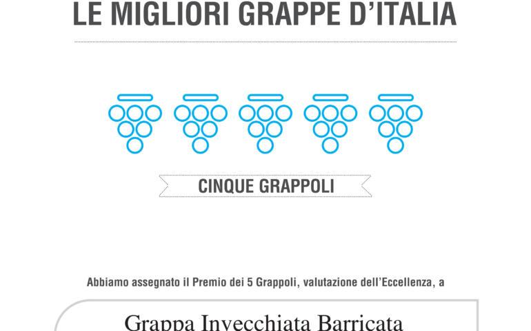 Bibenda 2021 – 5 Grappoli, Le Migliori Grappe d'Italia – I III Re – Refosco