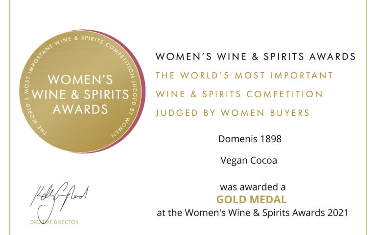 Women's Wine & Spirit Awards 2021 – Gold Medal – Vegan Cocoa