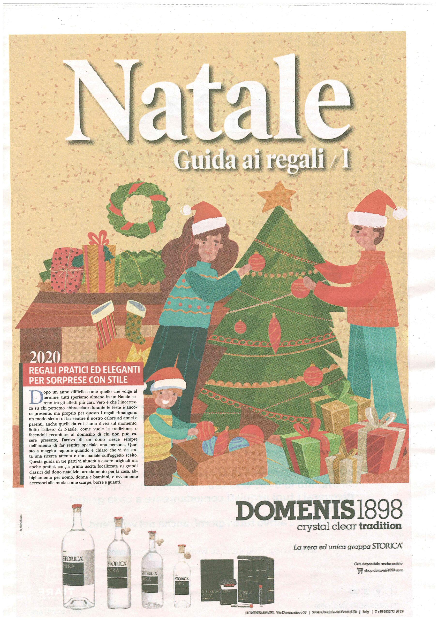 2020 dicembre 03: Messaggero Veneto – Natale, Guida ai regali 1