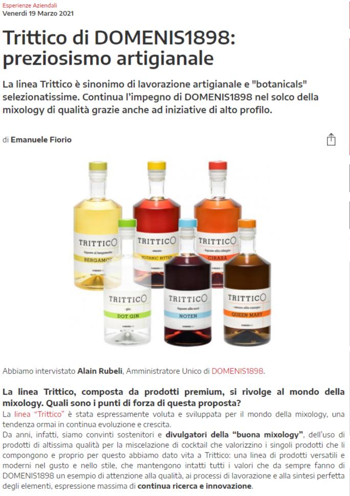 2021 marzo 19: WineMeridian – Trittico di DOMENIS1898: preziosismo artigianale
