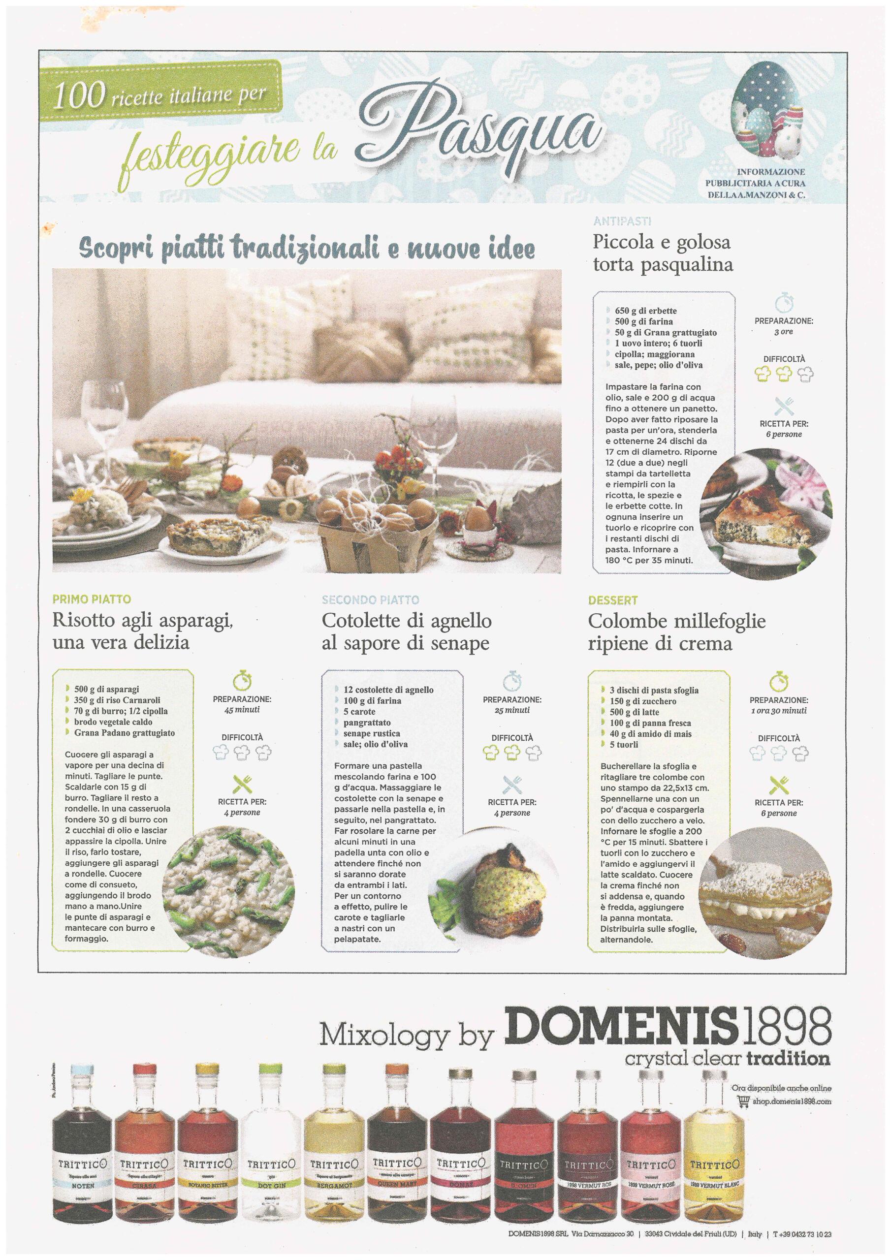 2021 marzo 30: Messaggero Veneto – 100 Ricette italiane per festeggiare la Pasqua