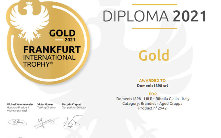 International Frankfurt Wine, Beer & Spirit Competition 2021 – I III Re Ribolla Gialla
