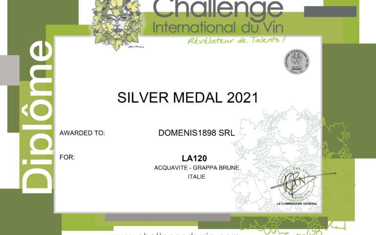 Challenge International du Vin 2021 – Médaille Argent – La120