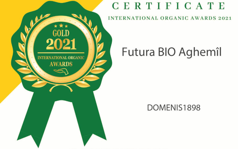 International Organic Awards 2021 – Gold Winner – Futura BIO Aghemîl