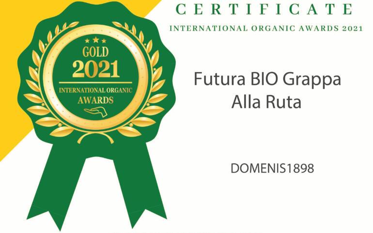 International Organic Awards 2021 – Gold Winner – Futura BIO Grappa Alla Ruta