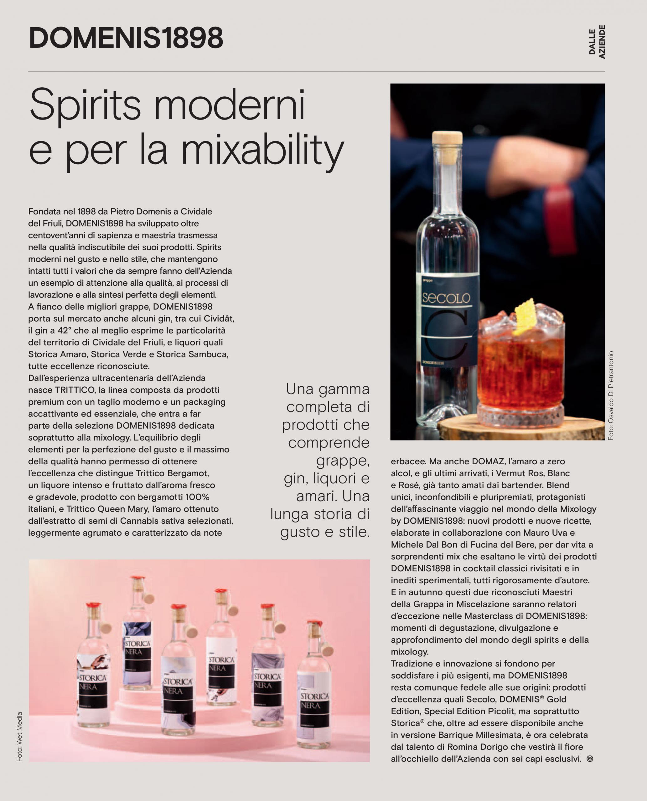 2021 luglio 23: Mixer N.338 – Spirits moderni e per la mixability