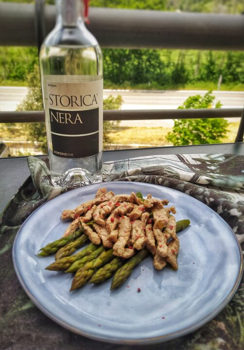 """Veal strips with Storica Nera by """"Il mio Piccolo Bistrot"""""""